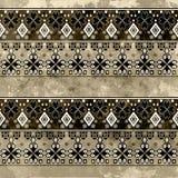Ethnic boho grunge pattern. Tribal old art print. Royalty Free Stock Images