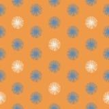 Ethnic boho hand drawn seamless patterns. Royalty Free Stock Photo
