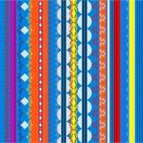 Ethnic boho seamless pattern. Colorful border background texture. Royalty Free Stock Image