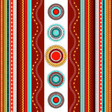 Ethnic boho seamless pattern. Colorful border background texture. Stock Photos