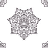 Ethnic boho seamless-pattern, coloring pages template. Vector il. Lustration Royalty Free Stock Photography