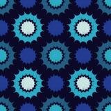 Ethnic boho seamless pattern. Decorative sun. Scribble texture. Retro motif. Royalty Free Stock Photography