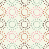 Ethnic boho seamless pattern. Decorative sun. Scribble texture. Retro motif. Royalty Free Stock Photo