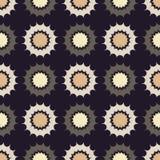 Ethnic boho seamless pattern. Decorative sun. Scribble texture. Retro motif. Royalty Free Stock Photos