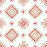Ethnic boho seamless pattern. Embroidery on fabric. Retro motif. Royalty Free Stock Image