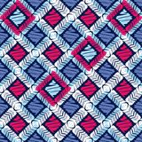Ethnic boho seamless pattern. Embroidery on fabric. Traditional ornament. Tribal pattern. Folk motif. stock illustration