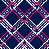 Ethnic boho seamless pattern. Lace. Traditional ornament. Geometric background. Tribal pattern. Folk motif. royalty free illustration