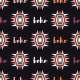 Ethnic boho seamless pattern. Retro motif. Stock Photo