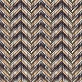 Ethnic boho seamless pattern. Scratches grunge zigzag texture. Retro motif. Textile rapport Stock Image
