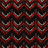 Ethnic boho seamless pattern. Scratches grunge zigzag texture. Retro motif. Textile rapport Royalty Free Stock Image
