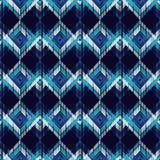 Ethnic boho seamless pattern. Scratches grunge zigzag texture. Retro motif. Textile rapport Royalty Free Stock Photo