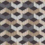 Ethnic boho seamless pattern. Scribble texture. Retro motif. Royalty Free Stock Photo