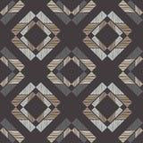Ethnic boho seamless pattern. Scribble texture. Retro motif. Stock Photography