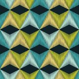 Ethnic boho seamless pattern. Scribble texture. Retro motif. Stock Image