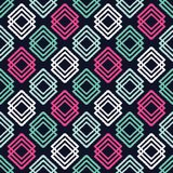 Ethnic boho seamless pattern. Traditional ornament. Geometric background. Tribal pattern. Folk motif. Textile rapport stock illustration