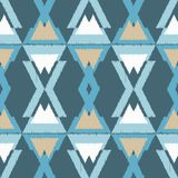 Ethnic boho seamless pattern.  Traditional ornament. Geometric background. Tribal pattern. Folk motif. Textile rapport Royalty Free Stock Photos