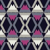 Ethnic boho seamless pattern.  Traditional ornament. Geometric background. Tribal pattern. Folk motif. Textile rapport Stock Photography