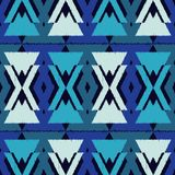 Ethnic boho seamless pattern.  Traditional ornament. Geometric background. Tribal pattern. Folk motif. Textile rapport Stock Image