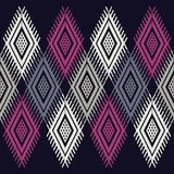 Ethnic boho seamless pattern. Traditional ornament. Geometric background. Tribal pattern. Folk motif. Textile rapport royalty free illustration