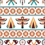 Ethnic border pattern design Stock Images