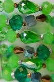 Ethnic bracelet hand plastic multi-colored stones Stock Photo