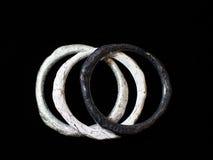 Ethnic bracelet hand tree. Black background Royalty Free Stock Photo