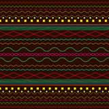 Ethnic, bright, background, Boho pattern,  on a dark bro Royalty Free Stock Images