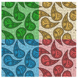 Ethnic bright seamless paisleys Stock Photos