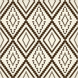 Ethnic brown old texture. Geometric motif Royalty Free Stock Photo