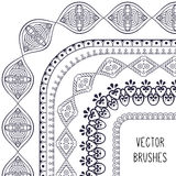 Ethnic brush collection Royalty Free Stock Images