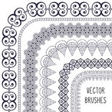 Ethnic brush collection Royalty Free Stock Photos
