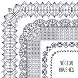 Ethnic brush collection Royalty Free Stock Photography