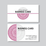 Ethnic business card Royalty Free Stock Photography