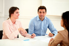 Ethnic business team working on office Royalty Free Stock Photo