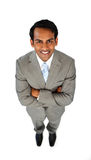 Ethnic businessman with folded arms Royalty Free Stock Images