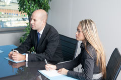 Ethnic businessteam during negotiations Stock Photography