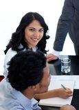 Ethnic businesswoman in a meeting Stock Images