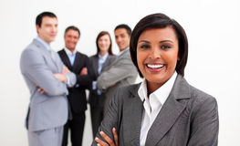 Ethnic businesswoman smiling at the camera Royalty Free Stock Photos
