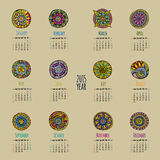 Ethnic calendar 2015 year Royalty Free Stock Photography