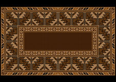 Ethnic carpet with Armenian vintage ornament in brown shades Royalty Free Stock Images