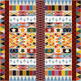 Ethnic carpet design Royalty Free Stock Image