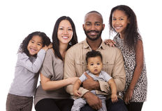 Ethnic casual family Stock Images