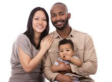 Ethnic casual family Royalty Free Stock Image