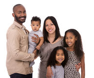 Ethnic casual family Stock Photography