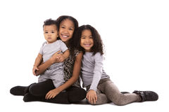 Ethnic casual siblings Royalty Free Stock Photos
