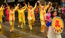Ethnic chinese dancers in australia day Stock Image