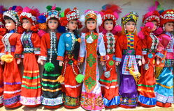 Ethnic Chinese Dolls Stock Image
