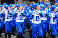 Ethnic chinese musicians participating in a parade on Australia day Royalty Free Stock Image