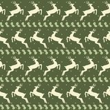 Ethnic Christmas seamless pattern with deer. Vector illustration Royalty Free Stock Photo