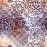 Ethnic circles on polygonal background. Royalty Free Stock Images